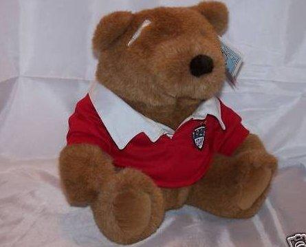Lands End Gund Rugby Brownie Bear Plush Stuffed, New