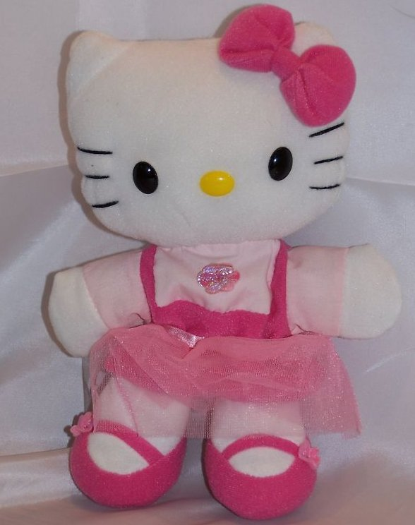 Hello Kitty Hand Puppet with Pink Tulle Skirt