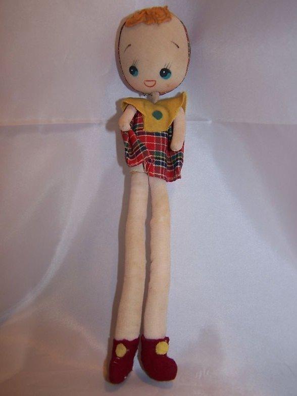 Poseable Vintage Cloth Girl Doll, Japan Japanese