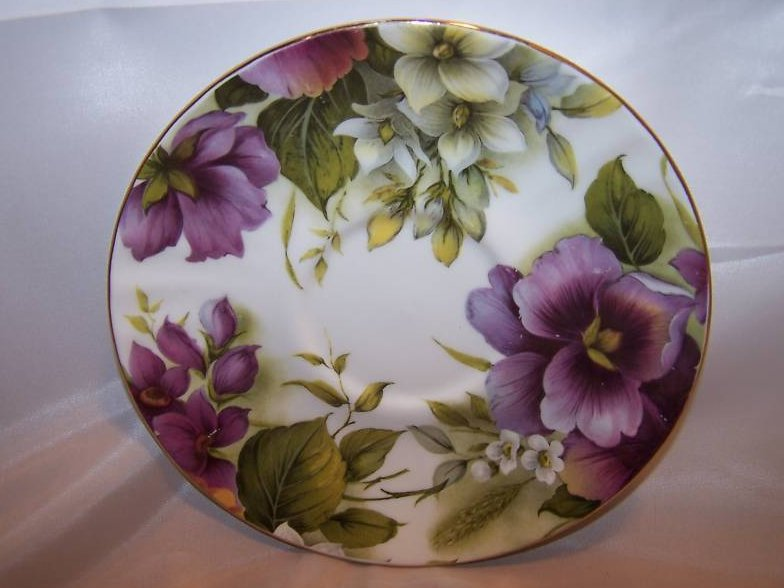 Duchess Pansy Floral Plate Saucer Dish, England
