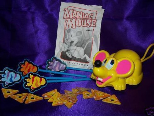 Milton Bradley Maniac Mouse Game with Running Mouse WORKS
