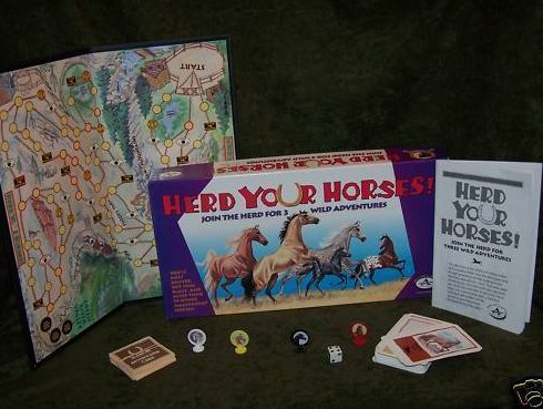 Herd Your Horses, Game, Educational 6 games in 1, Complete