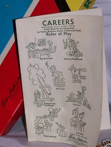 Image 0 of Parker Brothers 1956 Careers Game Rule Book, Book Only