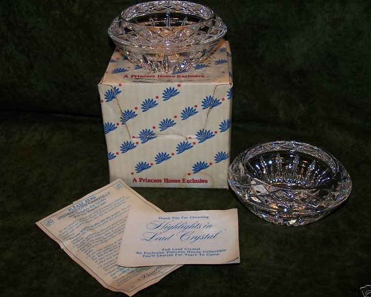 Image 4 of Princess House Lead Crystal Candleholders