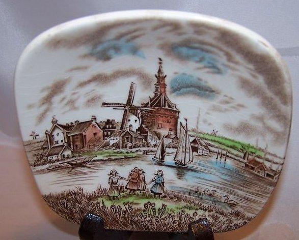 Dutch Windmill Shallow Bowl, Johnson Bros, England
