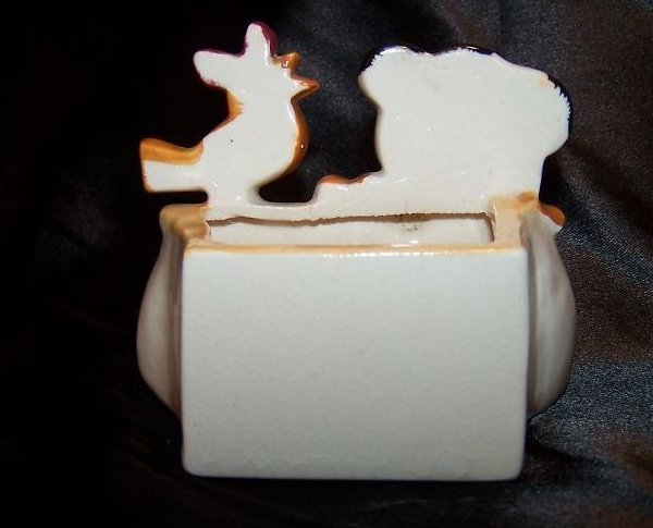Image 2 of Puppy & Bird Planter, Packet Holder, Occupied Japan