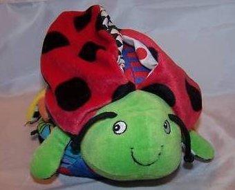 Ladybug Soft, Plush Stuffed Animal with Attached Book