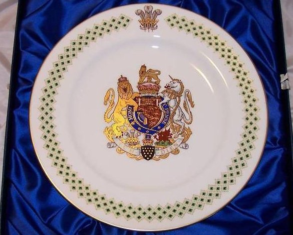 1969 Prince Charles Caernarvon Spode Plate, Orig Box