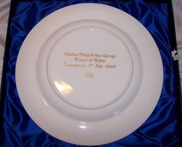 Image 4 of 1969 Prince Charles Caernarvon Spode Plate, Orig Box