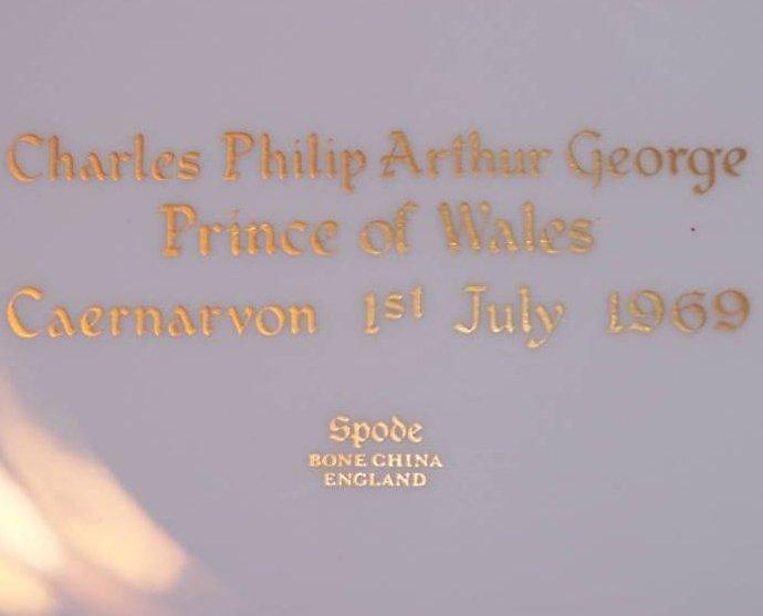 Image 5 of 1969 Prince Charles Caernarvon Spode Plate, Orig Box