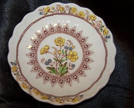 Buttercup, Forget Me Not Floral Butter Pat Plate, Spode