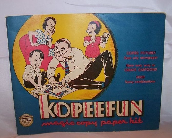 Kopeefun Magic Copy Book Copies Cartoons, Pictures 1940