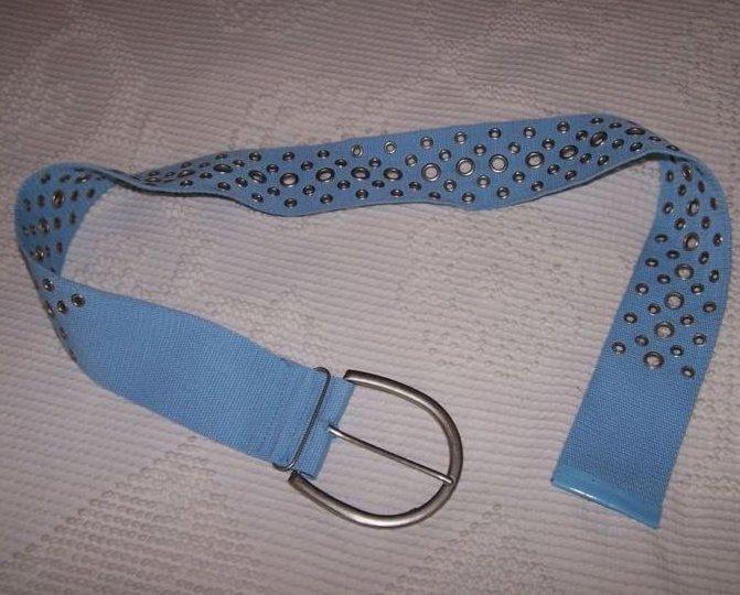 Belt Blue Canvas w Eyelets, Women, Teen