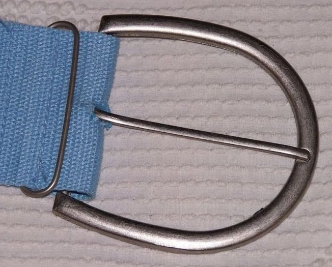 Image 2 of Belt Blue Canvas w Eyelets, Women, Teen