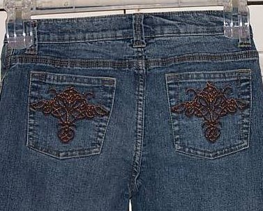 Juniors SZ 3 So Stretch Jeans, Great Pocket Embroidery