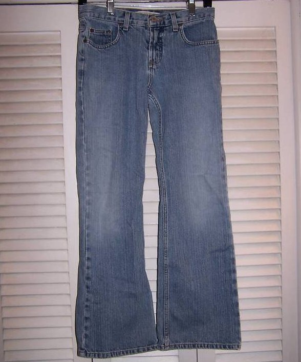 Jrs Size 5,6 Express Low Rise Flare Distressed Jeans