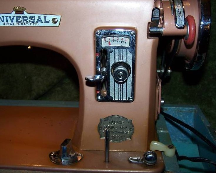 Image 1 of Universal Deluxe Model SDL Sewing Machine, Copper Color