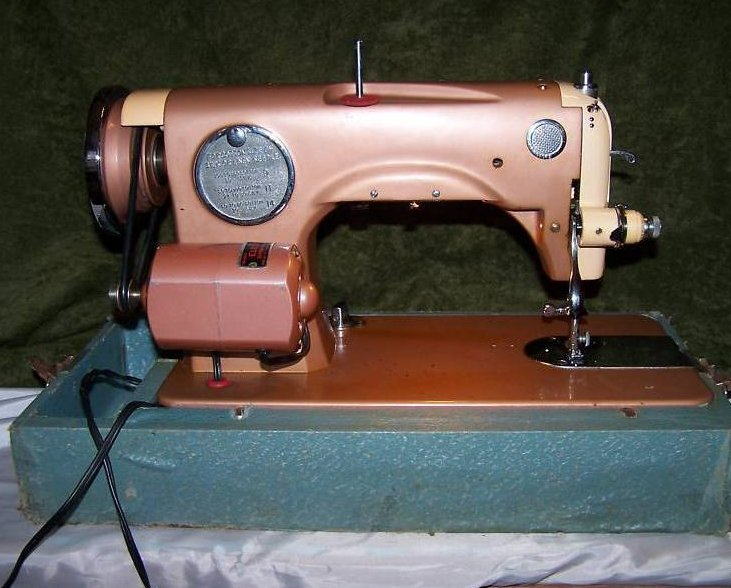Image 2 of Universal Deluxe Model SDL Sewing Machine, Copper Color
