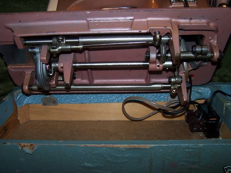 Image 4 of Universal Deluxe Model SDL Sewing Machine, Copper Color
