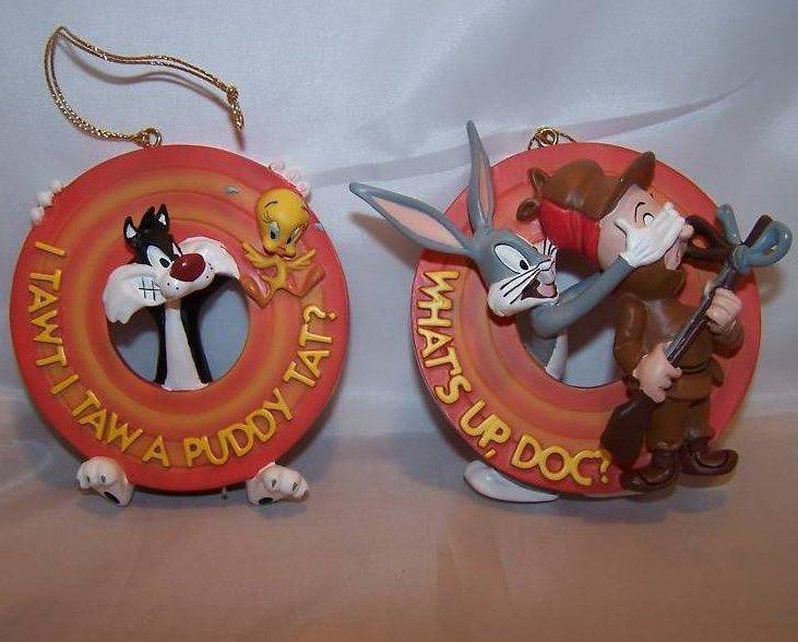Christmas Bugs Bunny, Elmer, Sylvester, Tweety Ornament