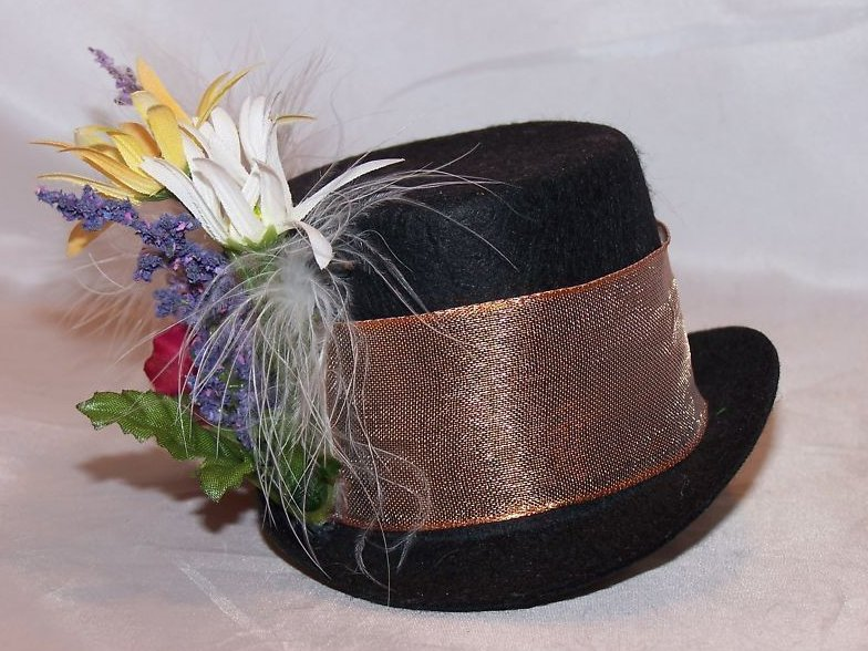 Great Decorated Top Hat For Dolls Or Decoration