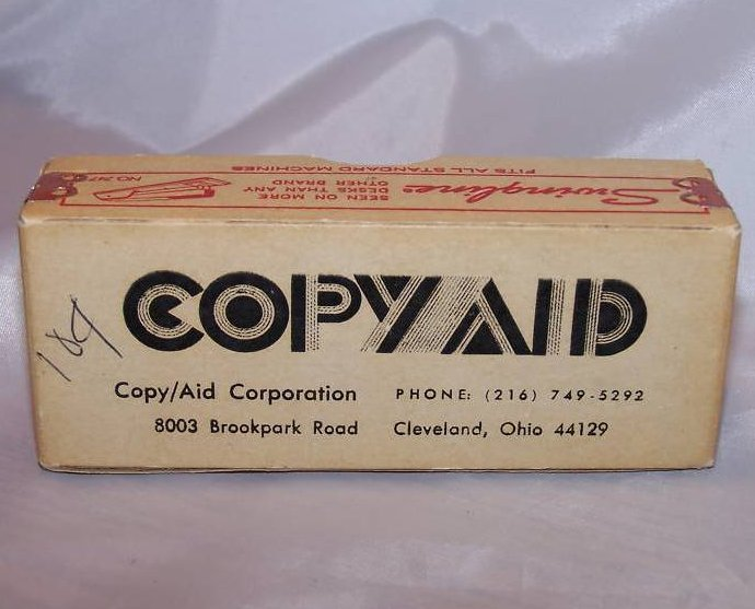 Swingline Staple Box, Copy Aid, Cardboard, Metal, Vintage