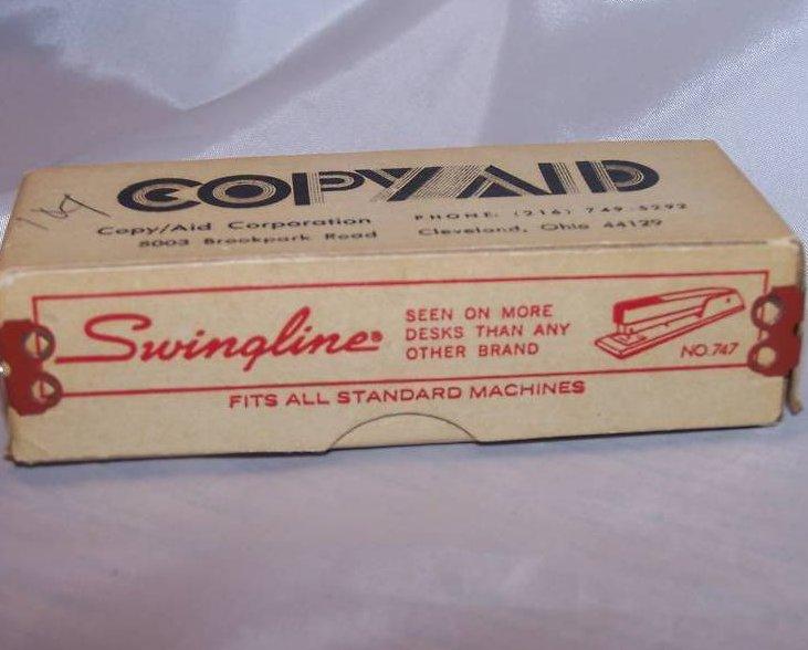 Image 1 of Swingline Staple Box, Copy Aid, Cardboard, Metal, Vintage