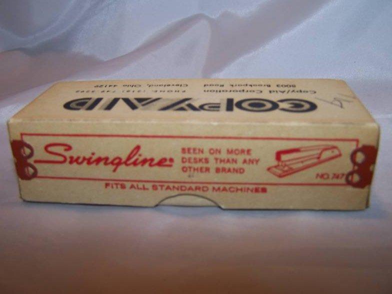 Image 2 of Swingline Staple Box, Copy Aid, Cardboard, Metal, Vintage