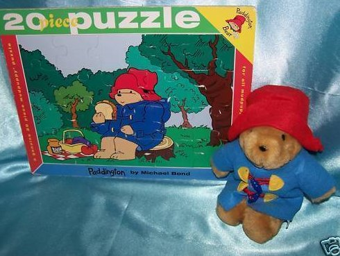 Kids Gifts Plush Paddington Bear with 20 piece Puzzle