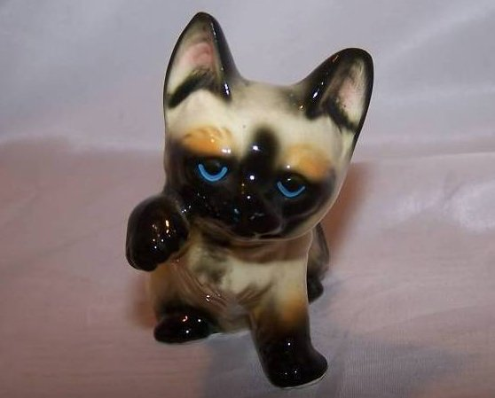 Give Me Five, Siamese Kitten Cat, Enesco Figurine
