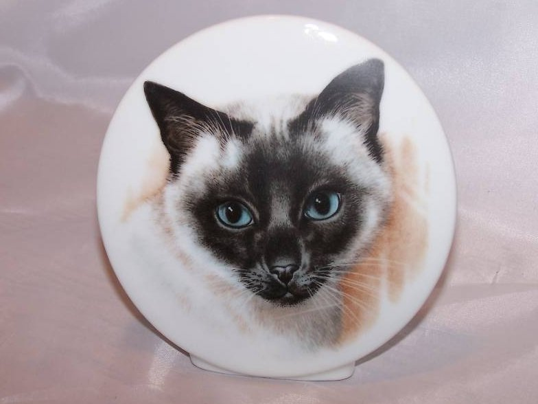 Siamese Cat Plaque w Made in Japan Label
