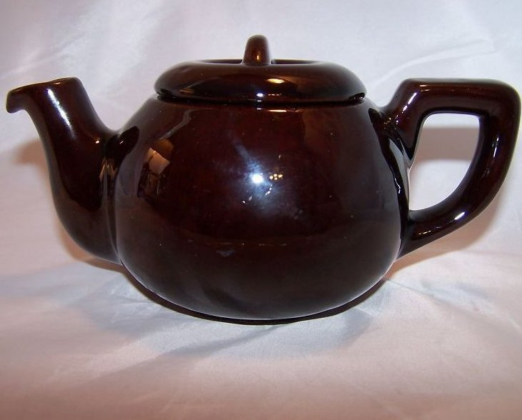 Image 0 of RCA Pottery Canada Dark Brown Glaze Teapot, Tea Pot