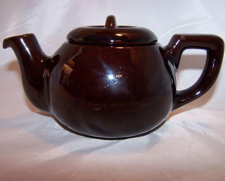 RCA Pottery Canada Dark Brown Glaze Teapot, Tea Pot