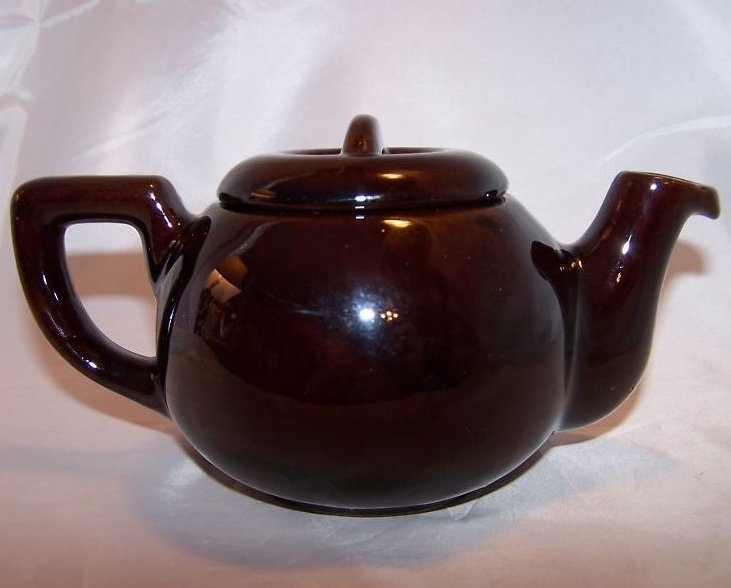 Image 2 of RCA Pottery Canada Dark Brown Glaze Teapot, Tea Pot