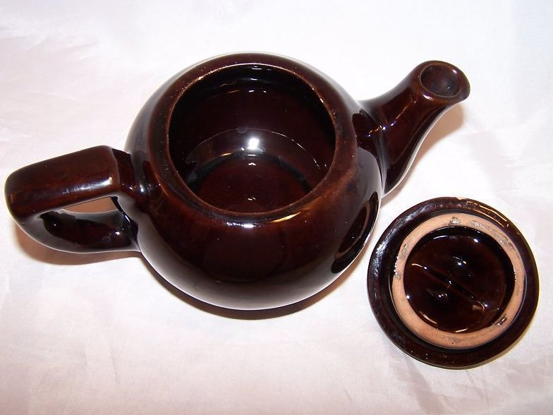 Image 4 of RCA Pottery Canada Dark Brown Glaze Teapot, Tea Pot