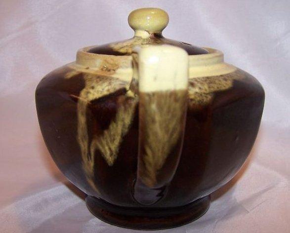 Image 1 of Brown Glaze w Green Dripwear Teapot, Tea Pot