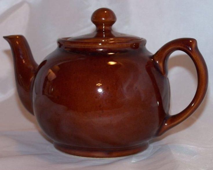 Medium Brown Teapot, Tea Pot, England, Almost 3 Cup Capacity