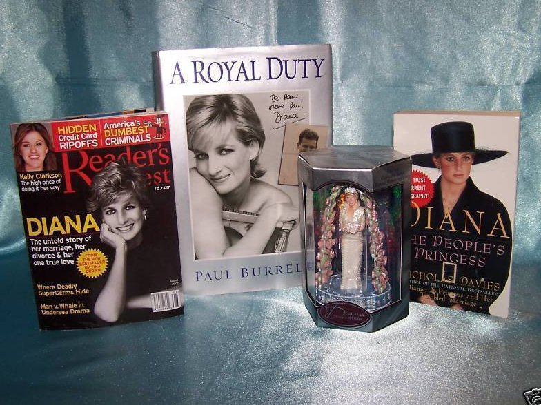 Princess Diana Figurine, Books Carlton Cards