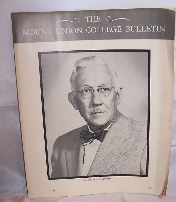 1953 Mount Union College Bulletin with 1 Cent Stamp, Ohio