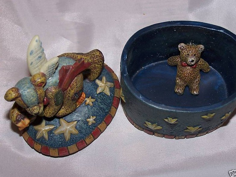 Image 1 of Lang and Wise Wooly Bears Trinket Box, 1st Edition, New