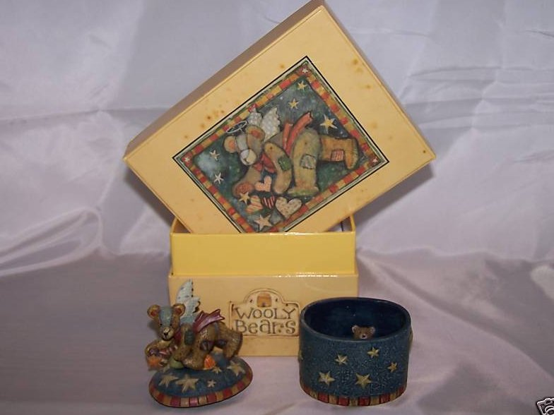 Image 2 of Lang and Wise Wooly Bears Trinket Box, 1st Edition, New