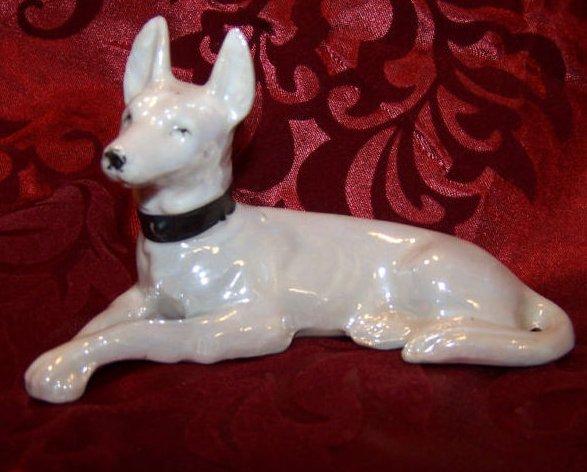 Pinscher Dog Puppy, White, Vintage Japan Japanese