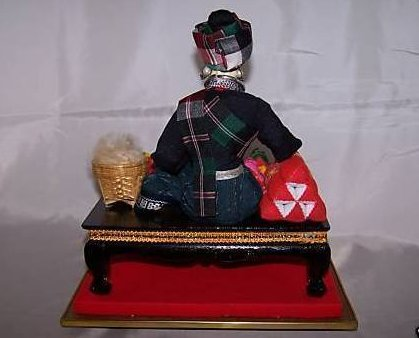 Image 2 of Oriental Seamstress Doll in Case