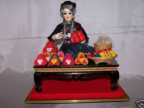 Image 3 of Oriental Seamstress Doll in Case