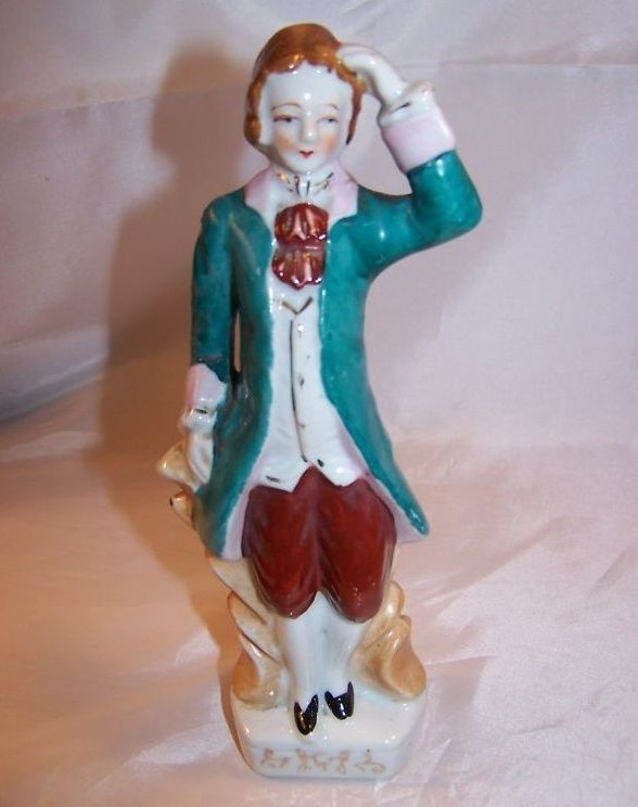Colonial Man Figurine with Gold Highlights, Japan Japanese