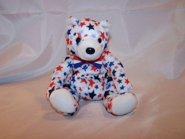 Glitter Star White Bear Ty Beanie Baby Plush Stuffed