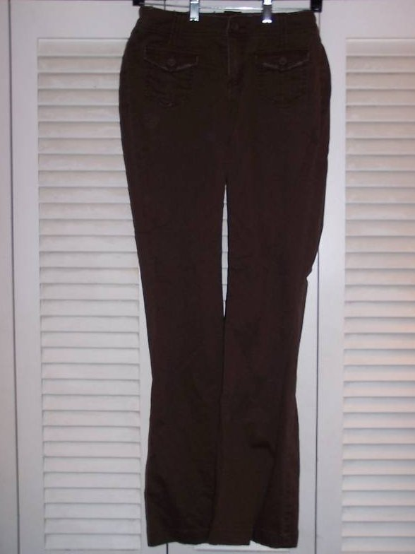 Juniors Sz 1 So Stretch Brown Distressed Pants