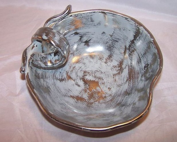 Hand Painted Stangl 3785 Colonial Silver Apple Bowl