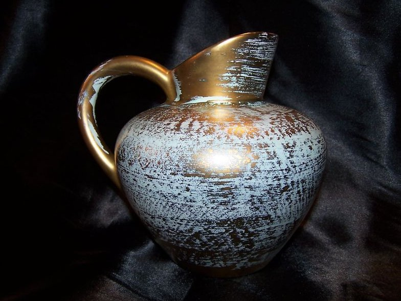 Gorgeous Hand Painted Stangl 4059 Antique Gold Pitcher