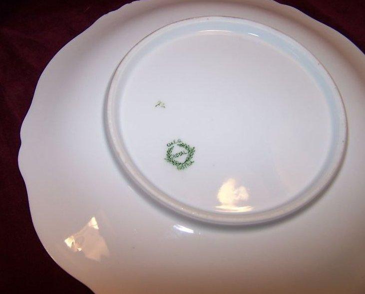 Image 2 of O & EG Royal Austria Plate w Gold, Roses, Flowers